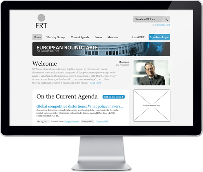 ERT Redesign Website & Integration Portal - Homepage