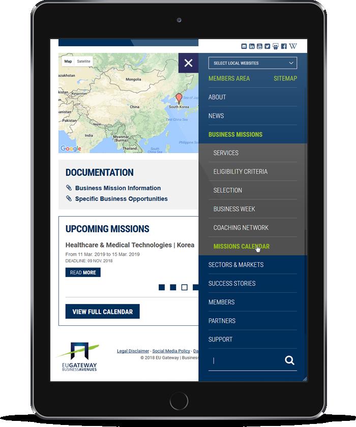 EU-Gateway Program - Business Mission - Tablets (Portrait)