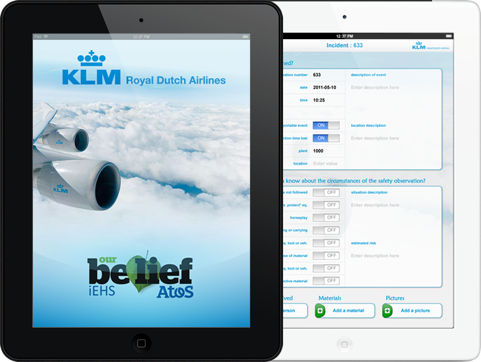 iEHS - Splash Screen and Incident Detail (KLM) - (portrait)