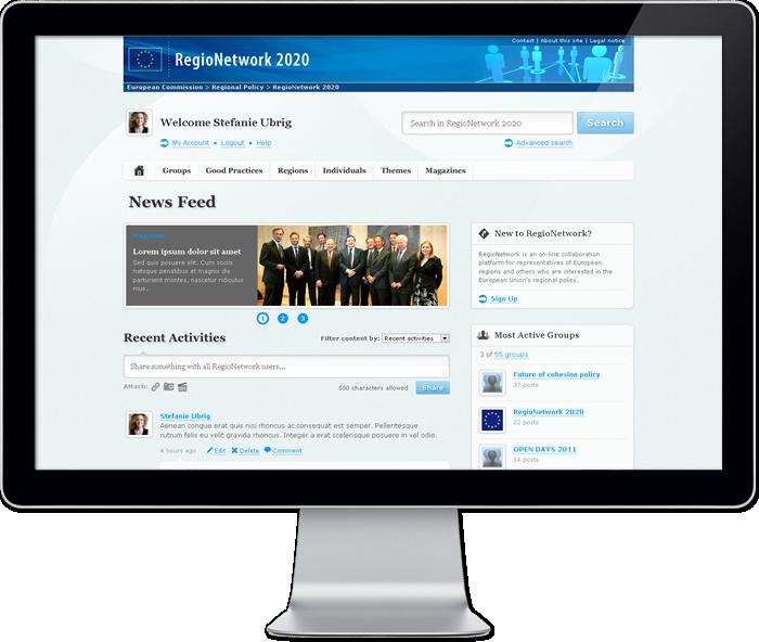 Regio Network 2020 platform - Homepage