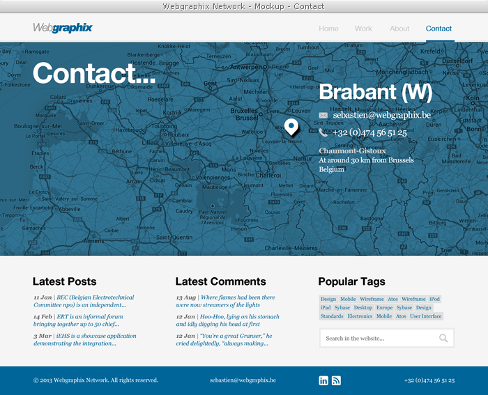 Webgraphix Network - Mockup - Contact