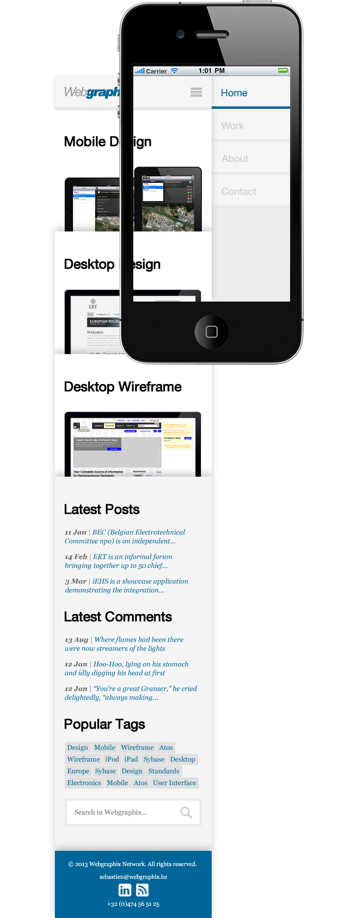 Webgraphix Network - Mobile-First Mockup - Homepage (Portrait)